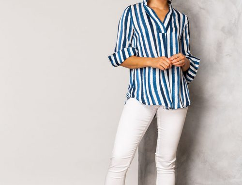 Harper stripe shirt $219.00Lily stretch pant $189.00